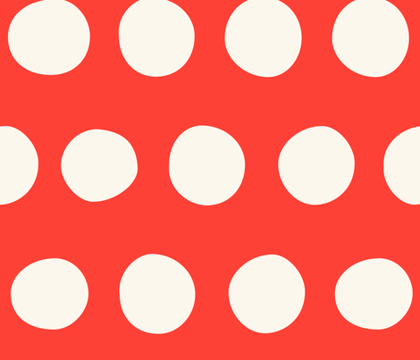 Jumbo Dots: Red fabric by nadiahassan on Spoonflower - custom fabric