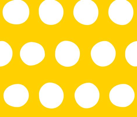 Jumbo Dots: Sunshine fabric by nadiahassan on Spoonflower - custom fabric