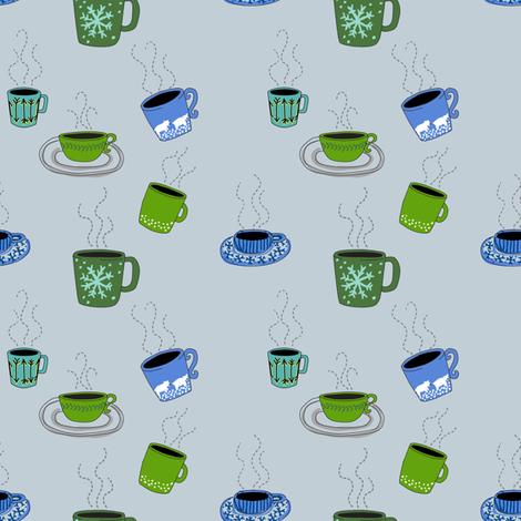 Animal Dreams Polar Bear_mugs fabric by kheckart on Spoonflower - custom fabric