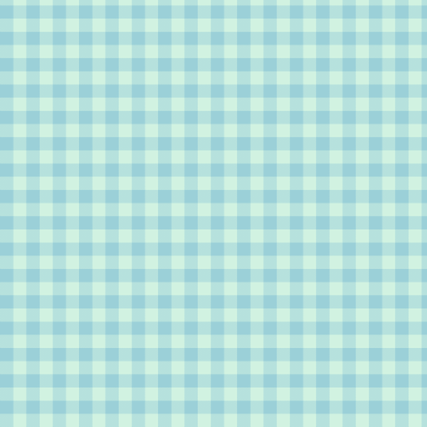 blue mint gingham fabric by weavingmajor on Spoonflower - custom fabric