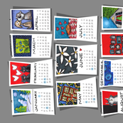 2016 Tea Towel of Wall Calendars