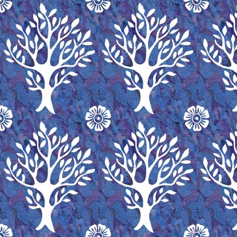 white-tree-stamp-VECTOR-w-corner-flwrs-FULLSIZE4in-150-white-rayonbatik3 fabric by mina on Spoonflower - custom fabric