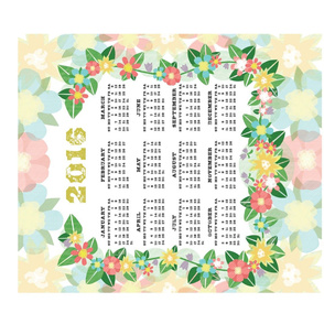 2016 - Tea Towel Calendar