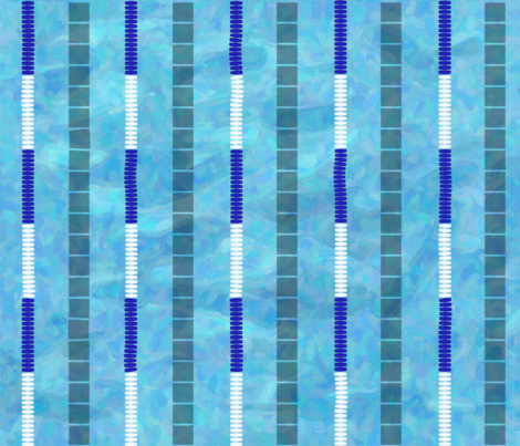 Swimming Laps fabric by julia_diane on Spoonflower - custom fabric