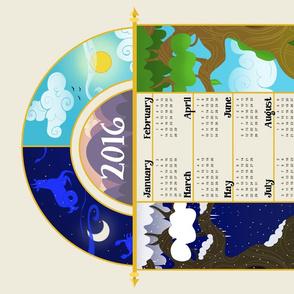 Illuminated Tea Towel Calendar 2016