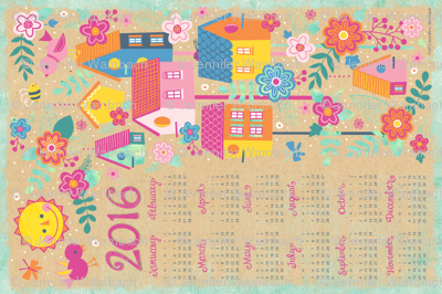 Feather Weather 2016 Tea Towel Calendar