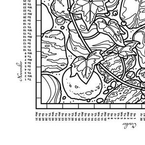 2016 Colorable Calendar - Cobble Trove on Captain's Row