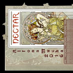 Nectar - Art Nouvoue Mucha 2016 Calander