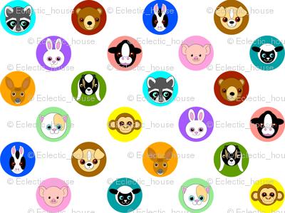Baby Animal Polka Dots