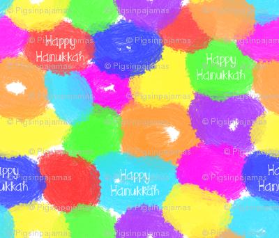 Happy Hanukkah Painted Donuts