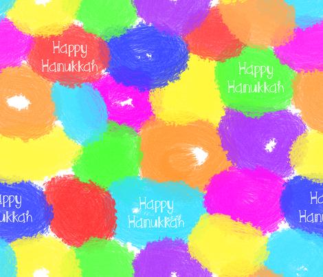 Happy Hanukkah Painted Donuts fabric by pigsinpajamas on Spoonflower - custom fabric