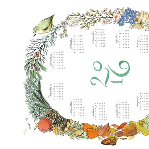 2016 Wreath Tea Towel Calendar