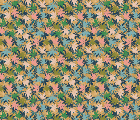 Maple Leaves fabric by lottibrown on Spoonflower - custom fabric