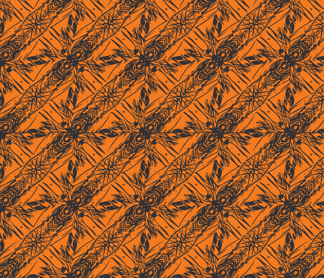 Hawaii Plant Series - Halloween fabric by pila_fashion_design on Spoonflower - custom fabric