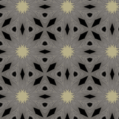 Stylized Floral in Grey and Black