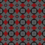 Red Diamonds on Grey