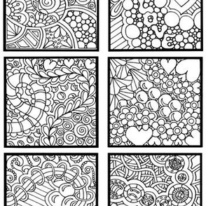 Zany Zendoodle Squares Color or Paint Your Own