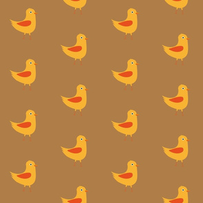 Yellow cute bird