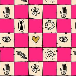 Pink Symbol check