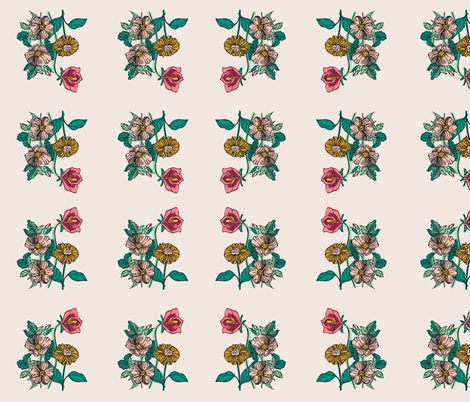 SPRING BOTANICAL fabric by rose_and_stone on Spoonflower - custom fabric