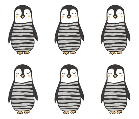 Penguin Plush Plushie Softie Cut & Sew fabric by caja_design on Spoonflower - custom fabric