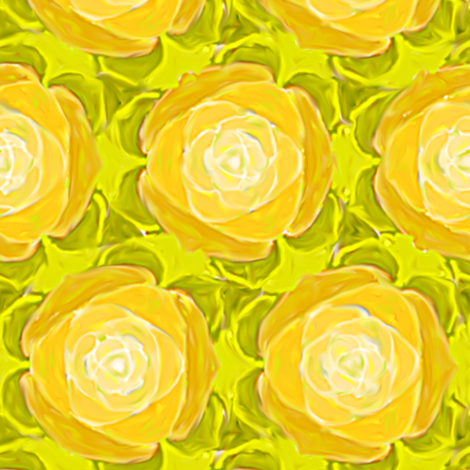 Yellow Cabbage Rose fabric by eclectic_house on Spoonflower - custom fabric