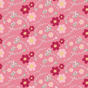 ditsy pink floral