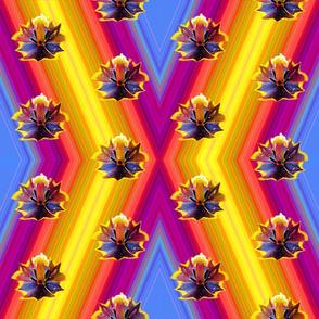 Rainbow Tulip Polka Dot ZigZag