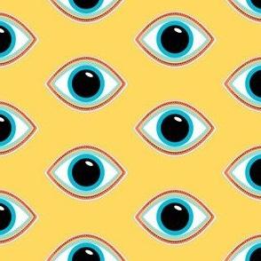 Evil Eye Mustard Color
