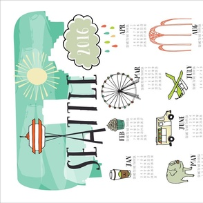 Seattle 2016 Tea Towel Calendar