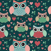 Owls in Love (dark)