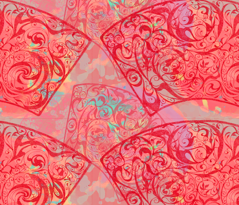 Red-fans fabric by greenlotus on Spoonflower - custom fabric