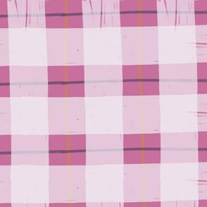 Pink Grunge Plaid