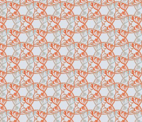 Floral Trellis - Mist fabric by kathyjuriss on Spoonflower - custom fabric