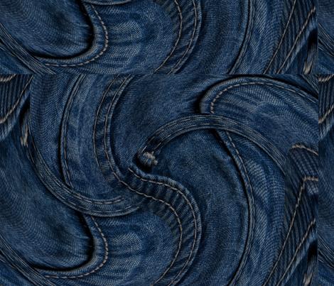 Denim Dreams: Twirl fabric by higmeister on Spoonflower - custom fabric