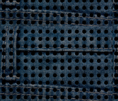 Denim Dreams: Swiss_Cheese fabric by higmeister on Spoonflower - custom fabric