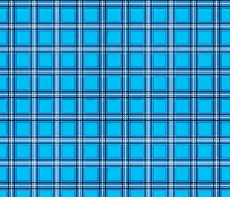 Dean's Blue and White Plaid fabric by midcoast_miscellany on Spoonflower - custom fabric