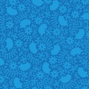Hedgehog Leaves (Blue)