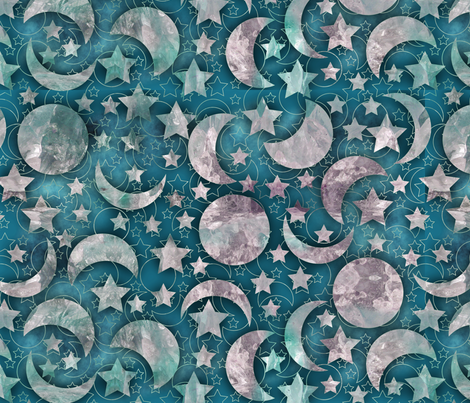 crystal moon shine fabric by kociara on Spoonflower - custom fabric