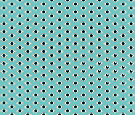 Evil Eye Blue Background fabric by shopcabin on Spoonflower - custom fabric
