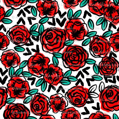 roses // fashion illustration print for girls