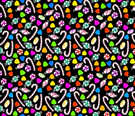 Holiday Sweets Night fabric by argenti on Spoonflower - custom fabric