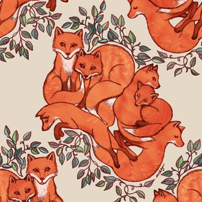 Fox Family Tangle