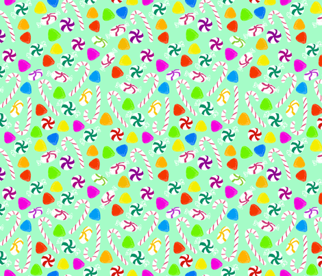 Holiday Sweets - Mint fabric by argenti on Spoonflower - custom fabric