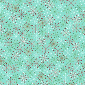 Atomic Snowflakes Medium- Turquoise