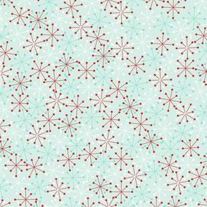 Atomic Snowflakes Medium- Mint