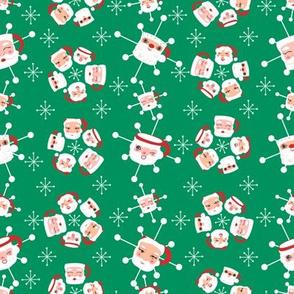 Atomic Santa Mugs Medium- Green