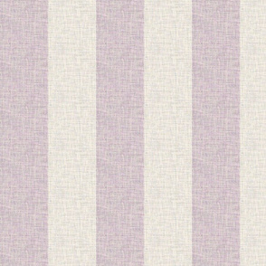 lilac-mauve barkcloth cabana stripes
