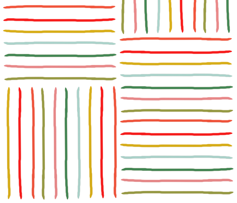 happy stripes fabric by betsymadeshop on Spoonflower - custom fabric