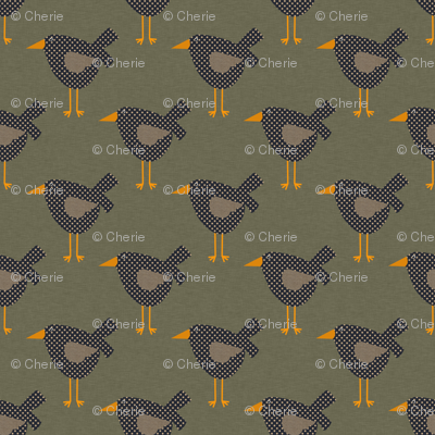 Dotted Prim Crows on Brown